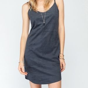 Gentle Fawn Black Faux Suede Panel Dress